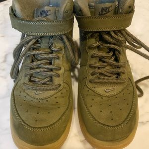 Boys size 2youth green Nike Air Force 1s